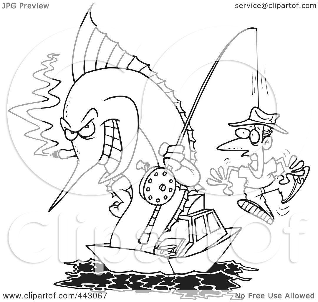 Fishing Clipart Black And White
