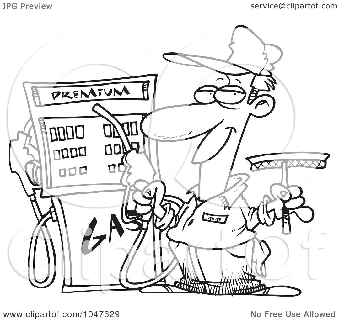 sketch gas station pump coloring pages