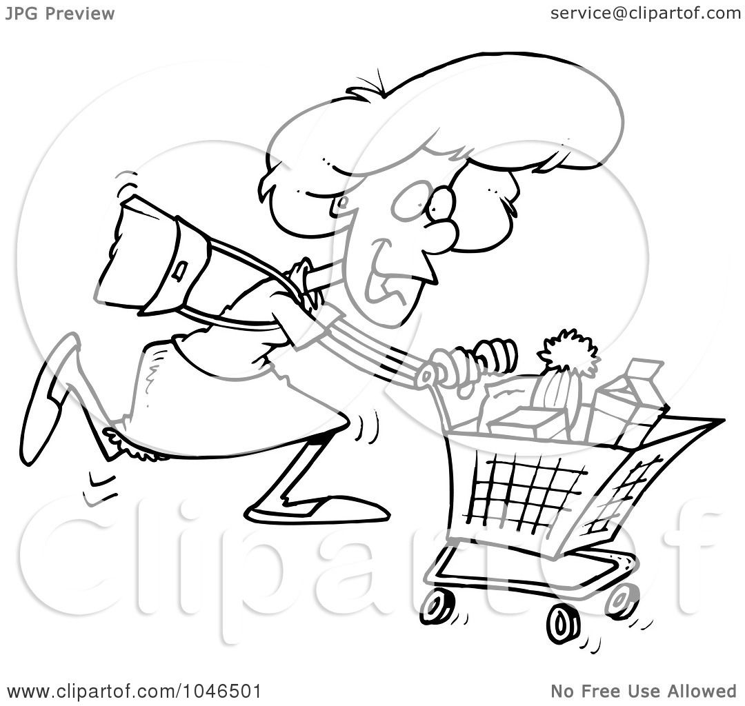 shopping cart clip art black shopping list clipart black and white