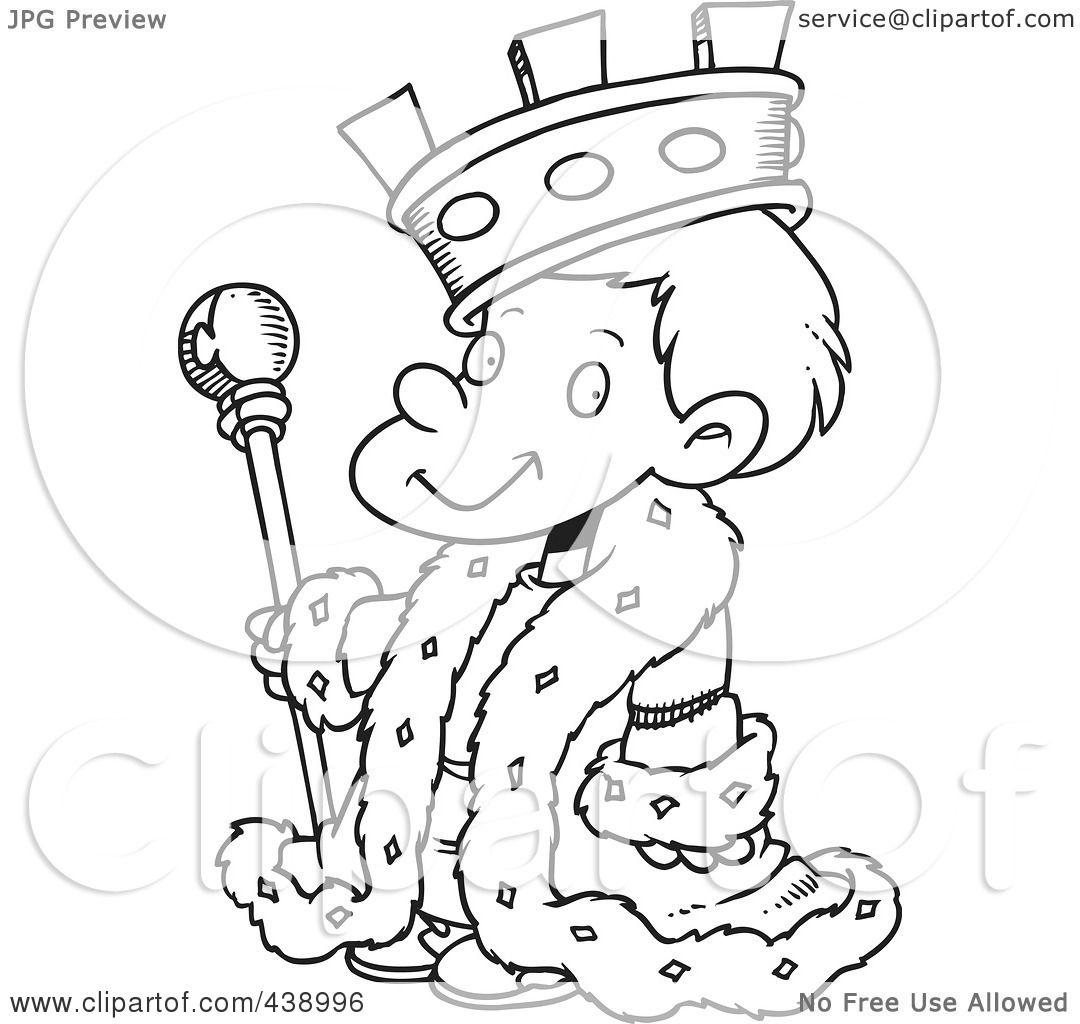 Royalty-Free  RF  Clip Art King Clip Art Black And White