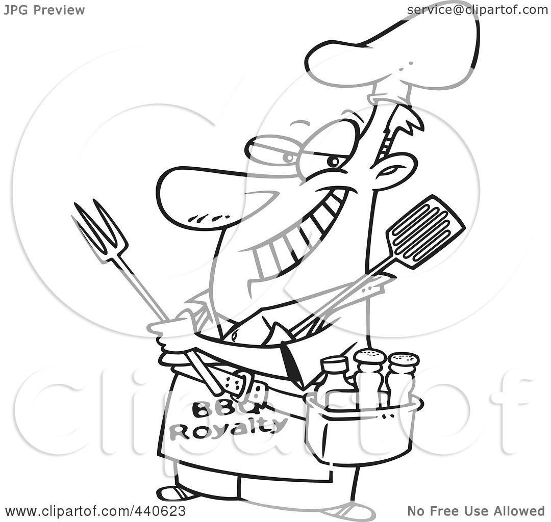 White apron clipart
