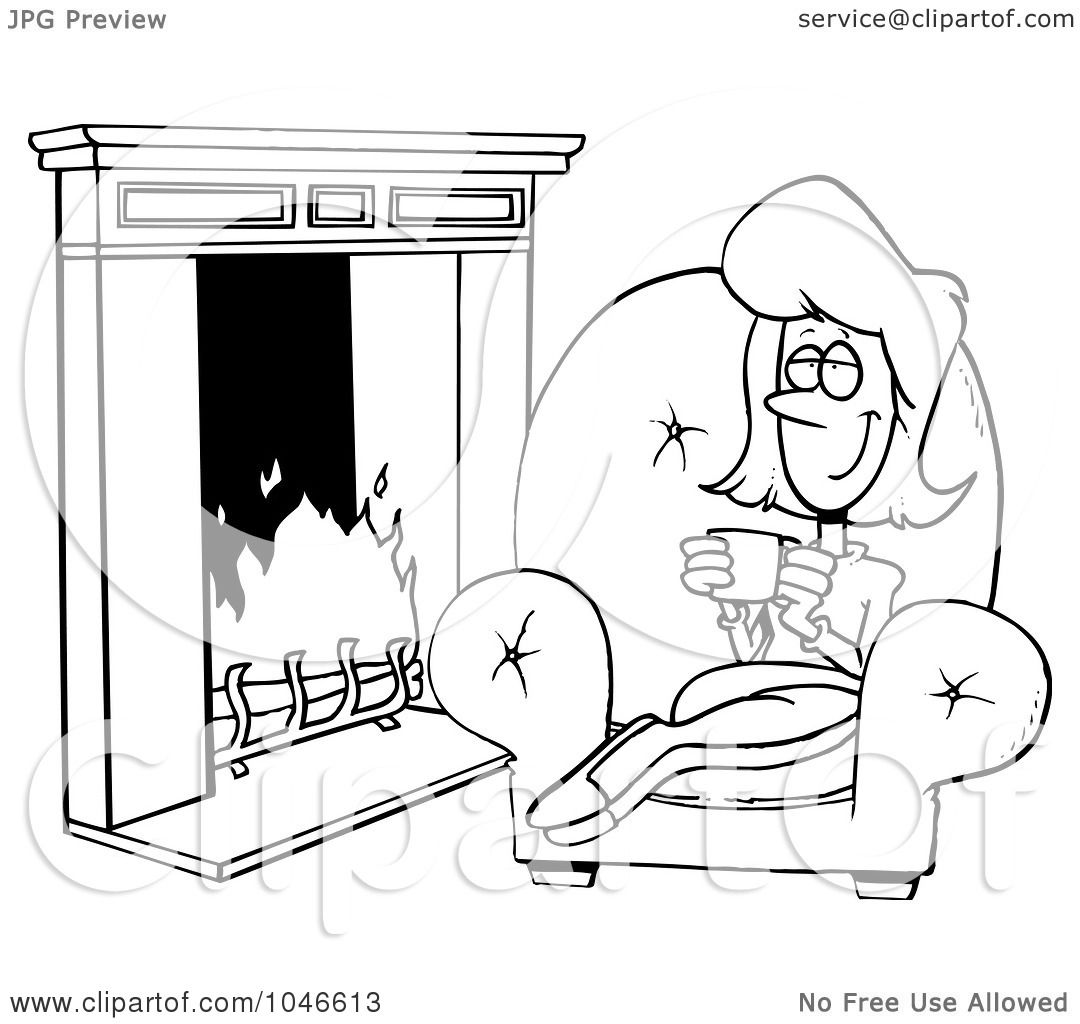 royalty free rf clipart of fireplaces illustrations vector