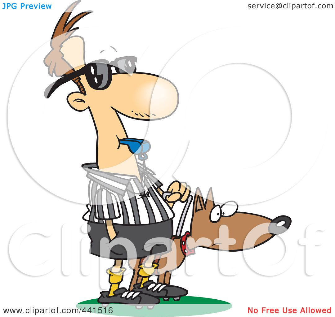 Royalty-Free (RF) Clip Art Illustration of a Cartoon Blind Referee ...