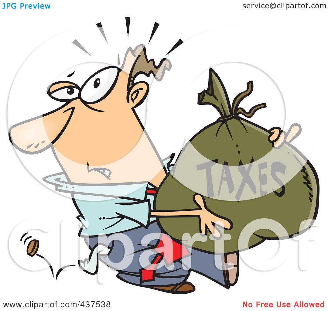 Small Money Bag Tattoo: Royalty-Free (RF) Clip Art Illustration Of A Cartoon
