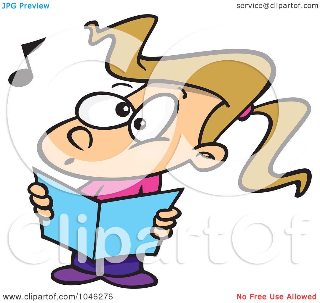 royalty free rf clip art illustration of a cartoon choir girl rh clipartof com chorus clipart black and white chores clip art for kids
