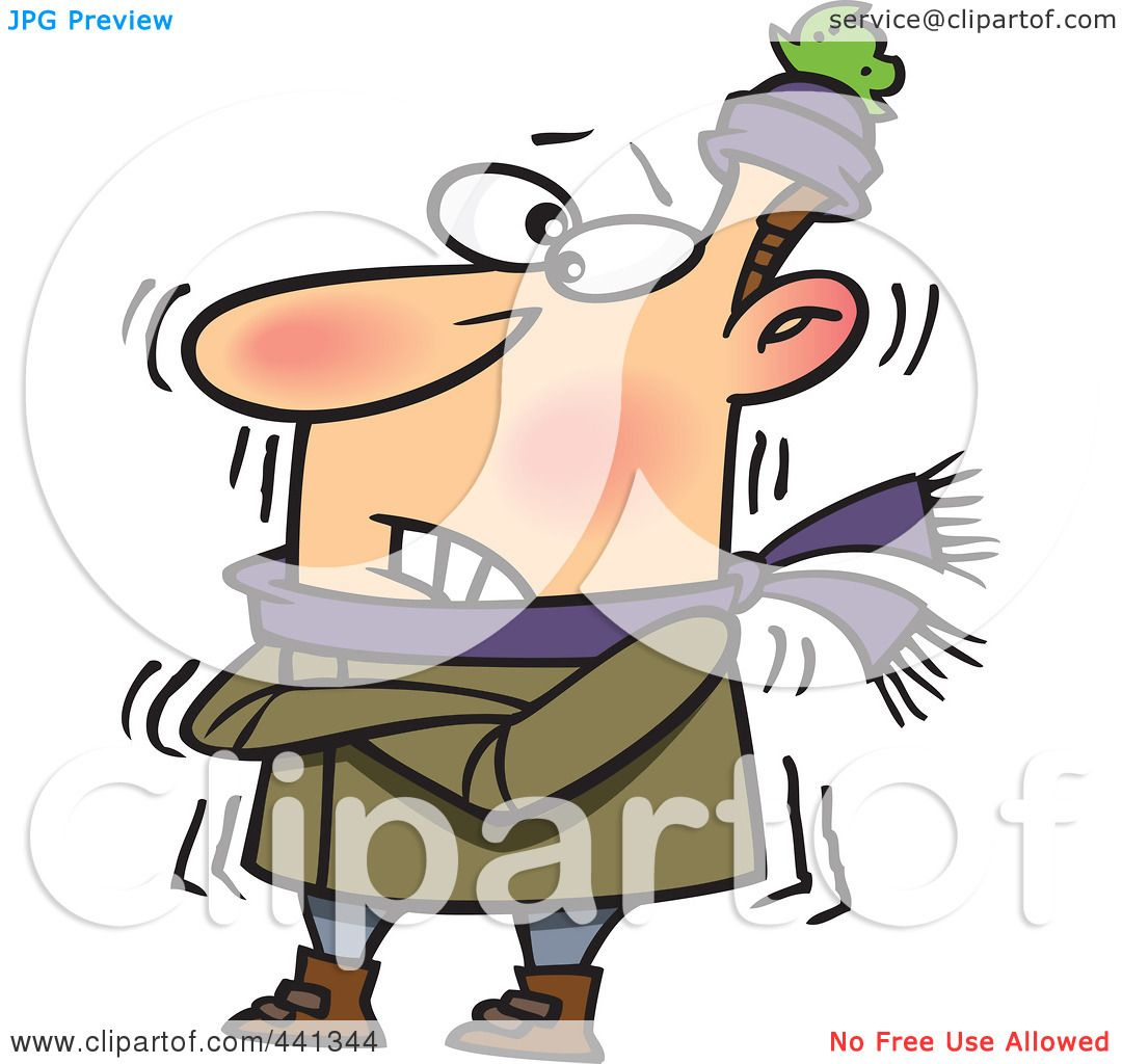 Royalty-Free (RF) Clip Art Illustration of a Cartoon Cold Man ...