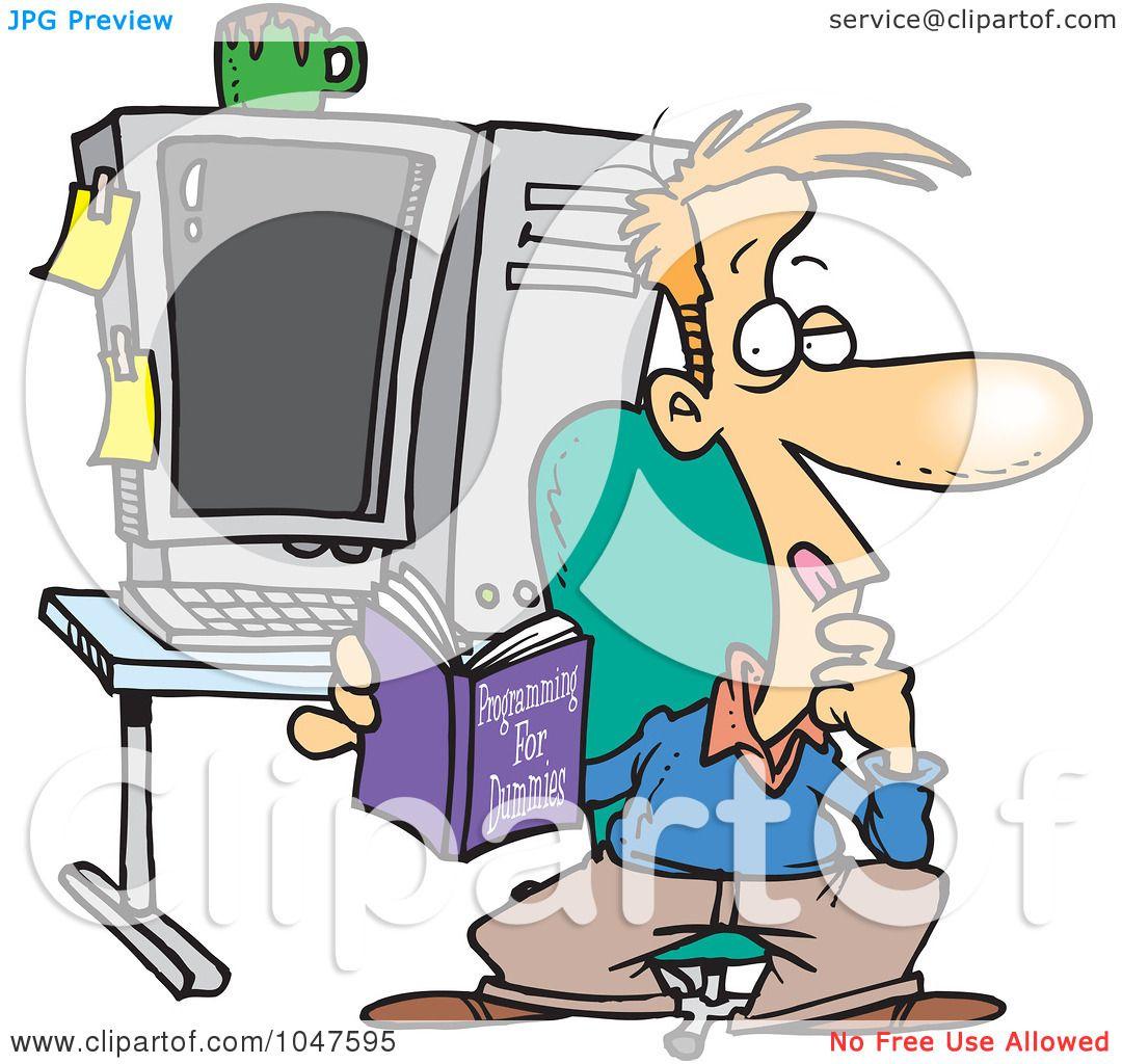 Royalty Free Rf Clip Art Illustration Of A Cartoon Computer