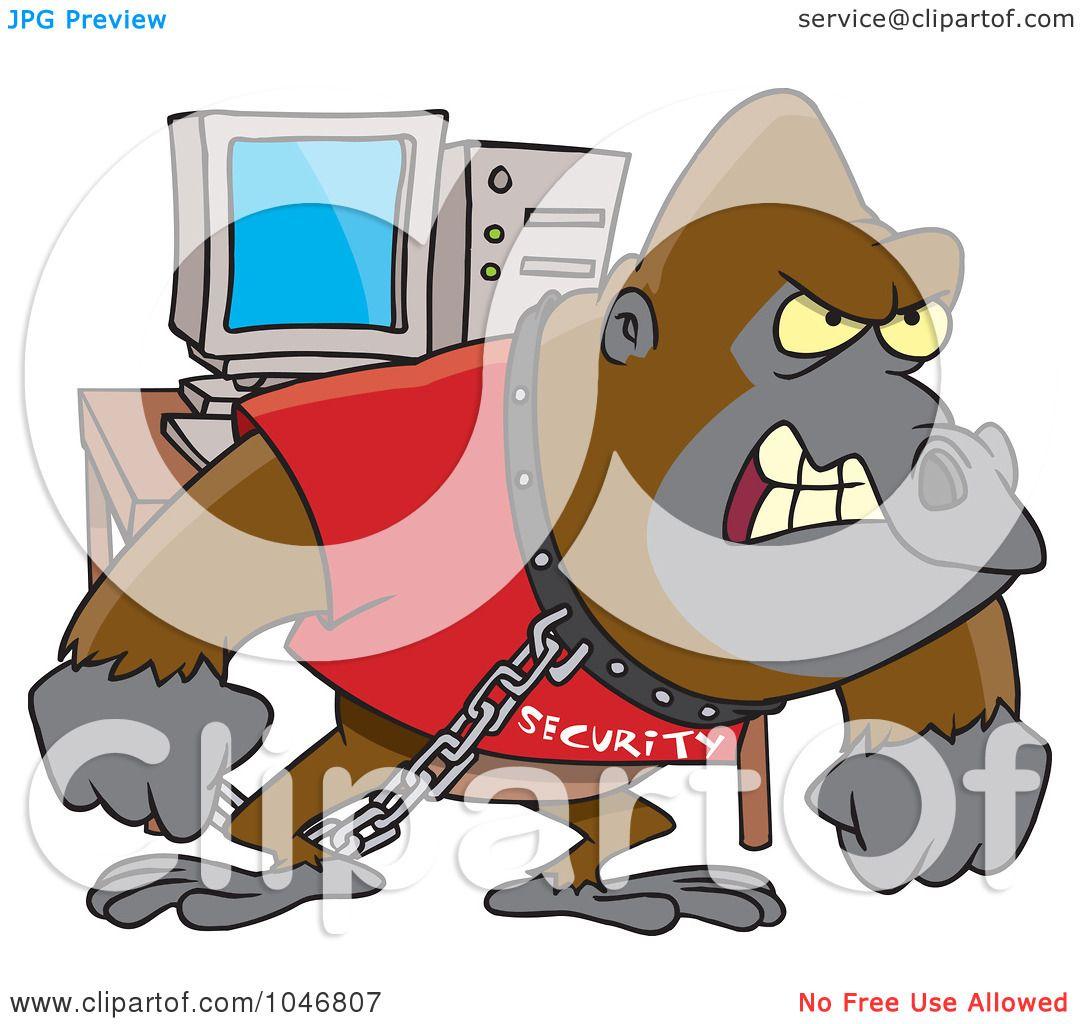Royalty-Free (RF) Clip Art Illustration of a Cartoon Computer ...