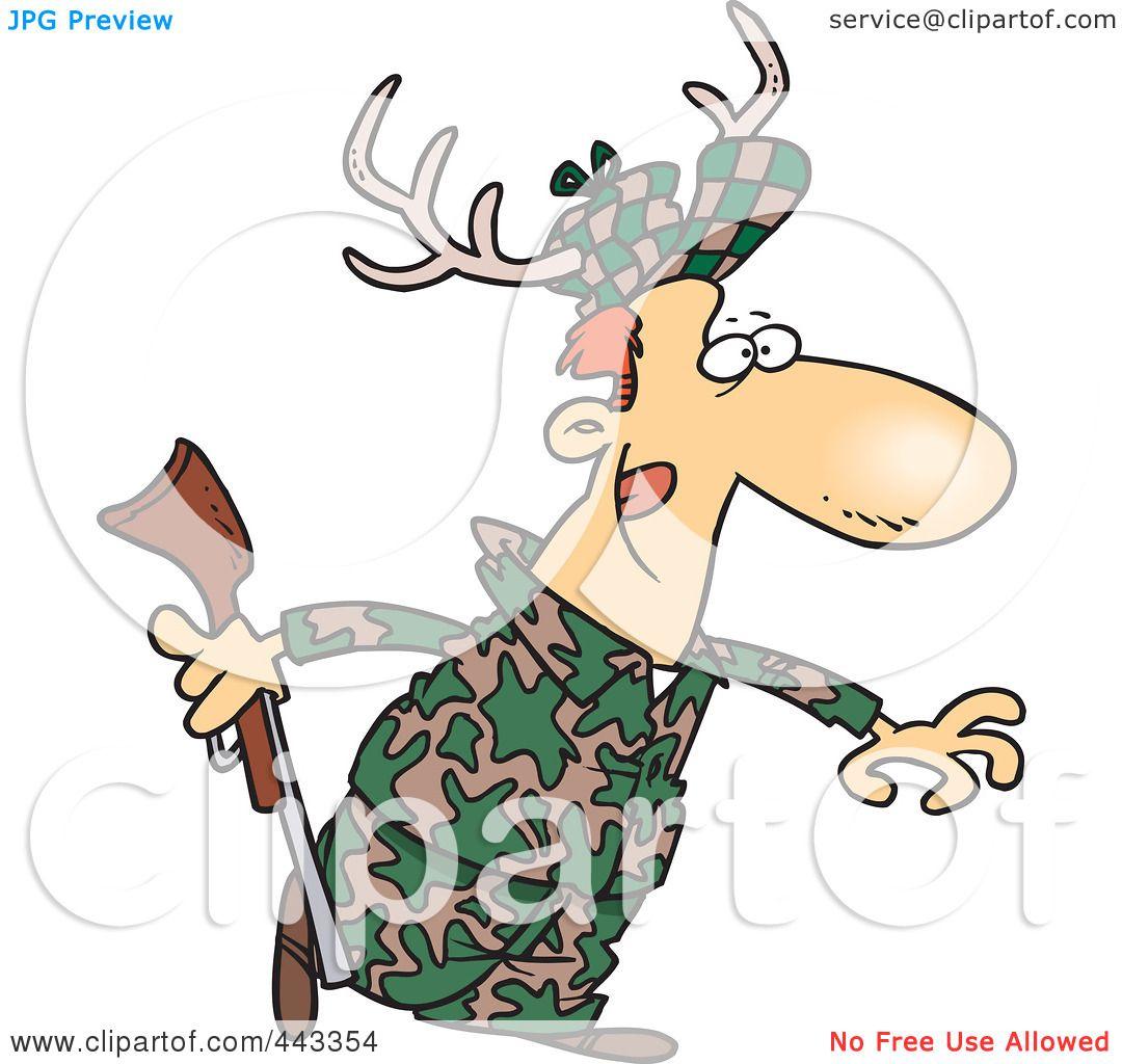 Royalty-Free (RF) Clip Art Illustration of a Cartoon Deer ...