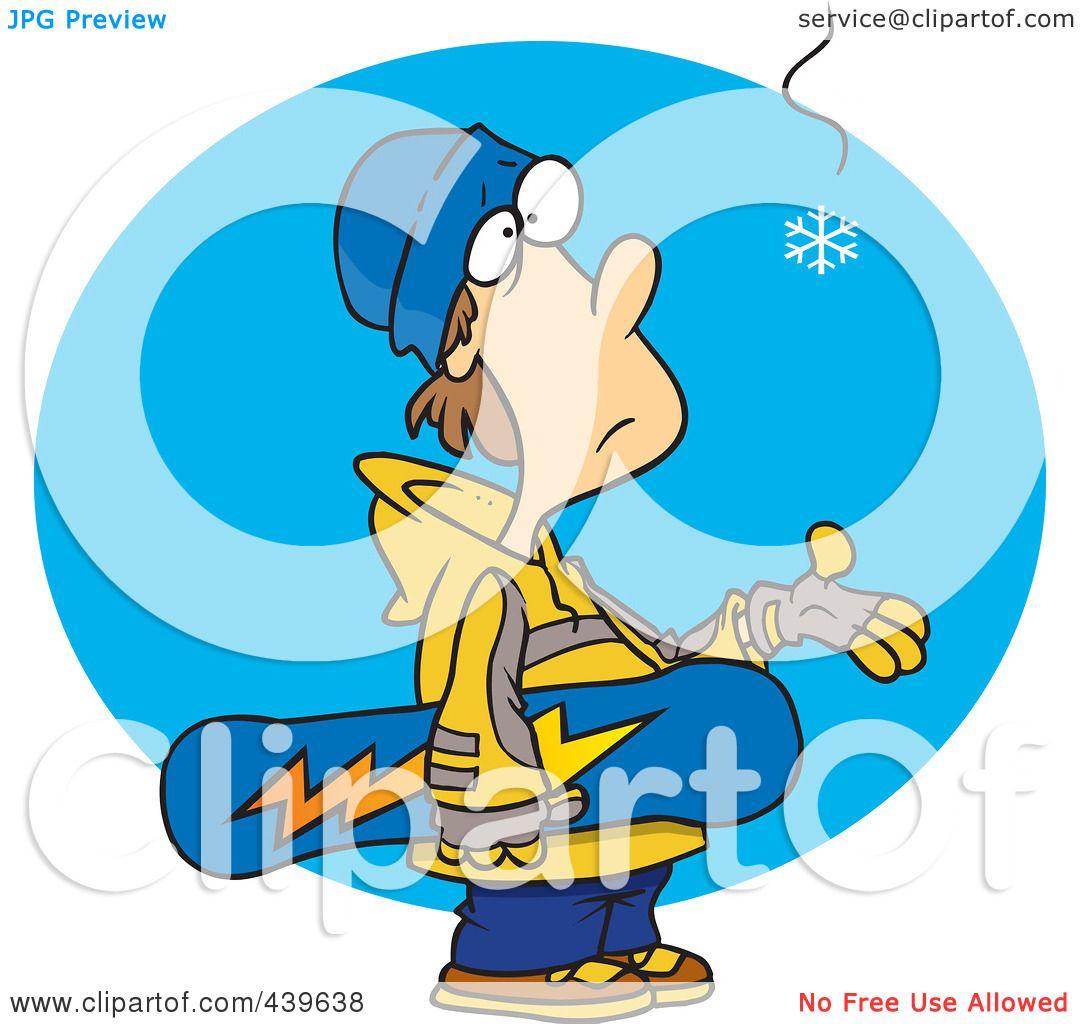 Royalty-Free (RF) Clip Art Illustration of a Cartoon Eager ...