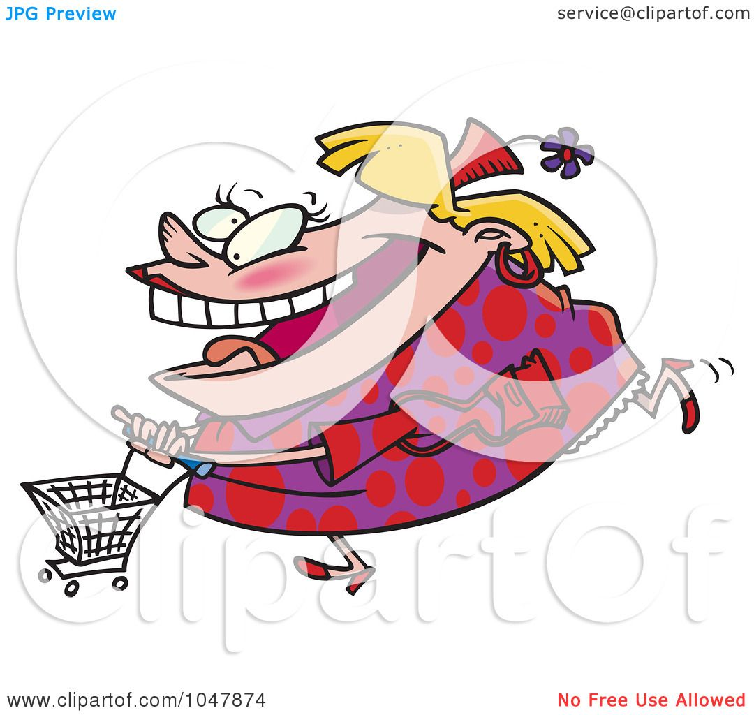 Royalty-Free (RF) Clip Art Illustration of a Cartoon Fat Woman ...