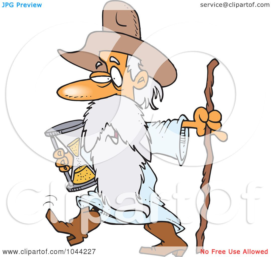 Royalty-Free (RF) Clip Art Illustration of a Cartoon Father Time ...
