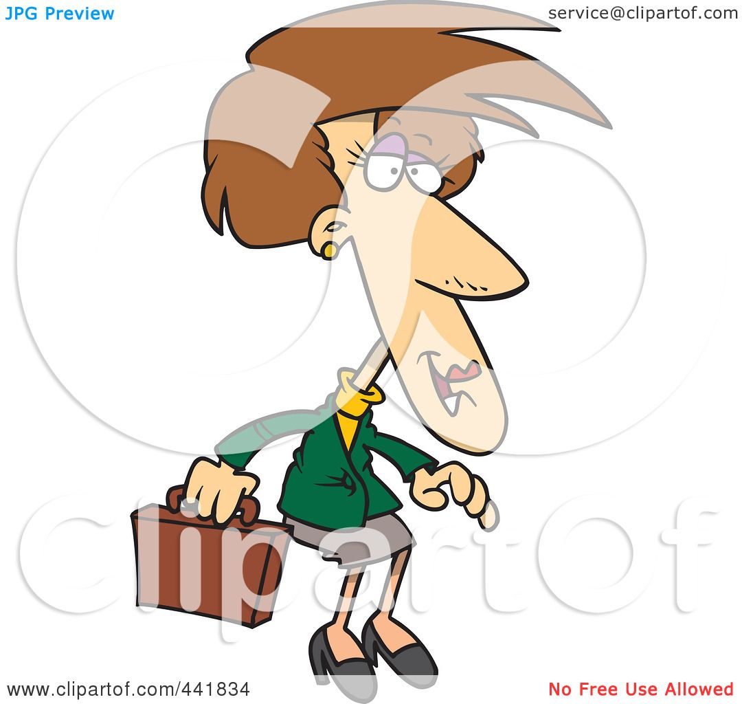 Executive Cartoon: Royalty-Free (RF) Clip Art Illustration Of A Cartoon