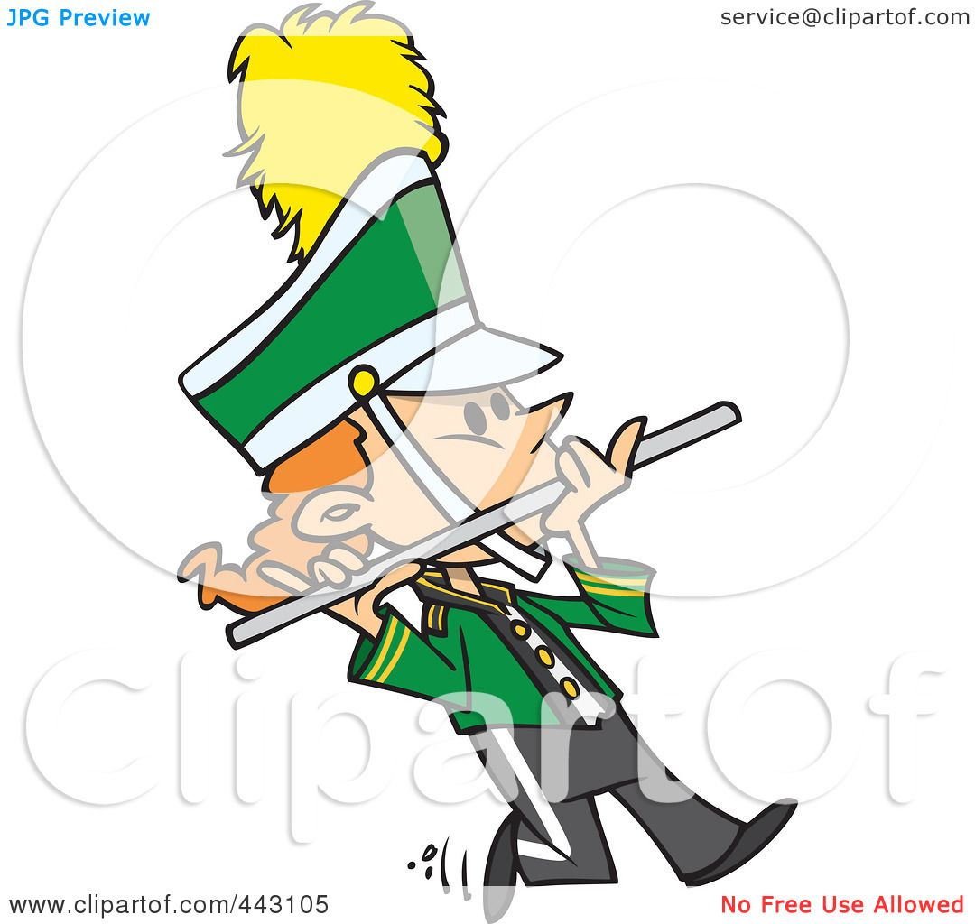 royalty free rf clip art illustration of a cartoon flutist in a rh clipartof com marching clipart marching clipart