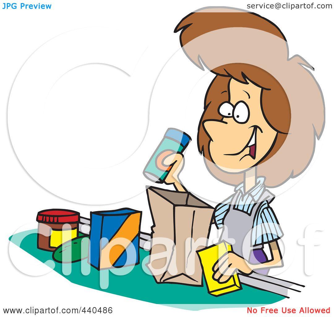 Cashier Cartoons: Royalty-Free (RF) Clip Art Illustration Of A Cartoon