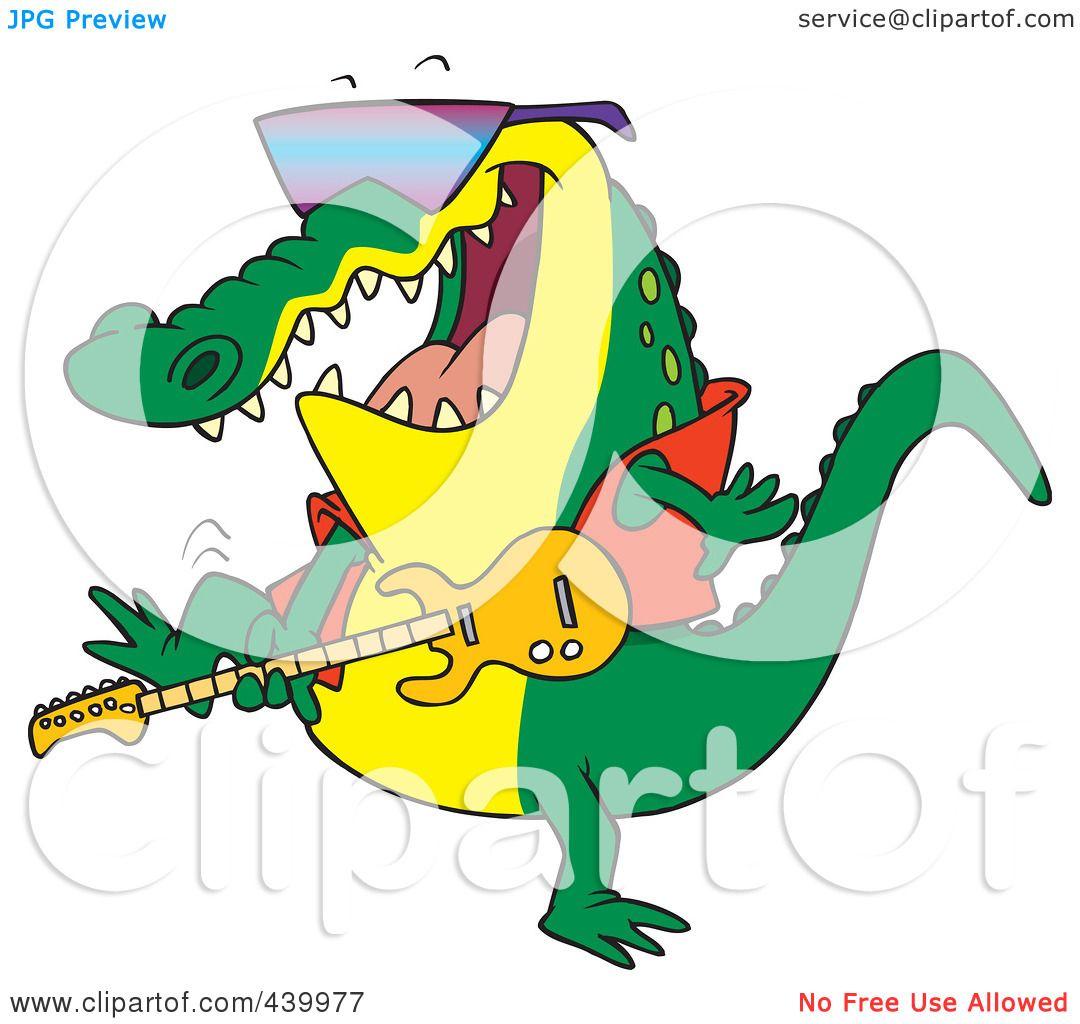 Royalty-Free (RF) Clip Art Illustration of a Cartoon Gator ...