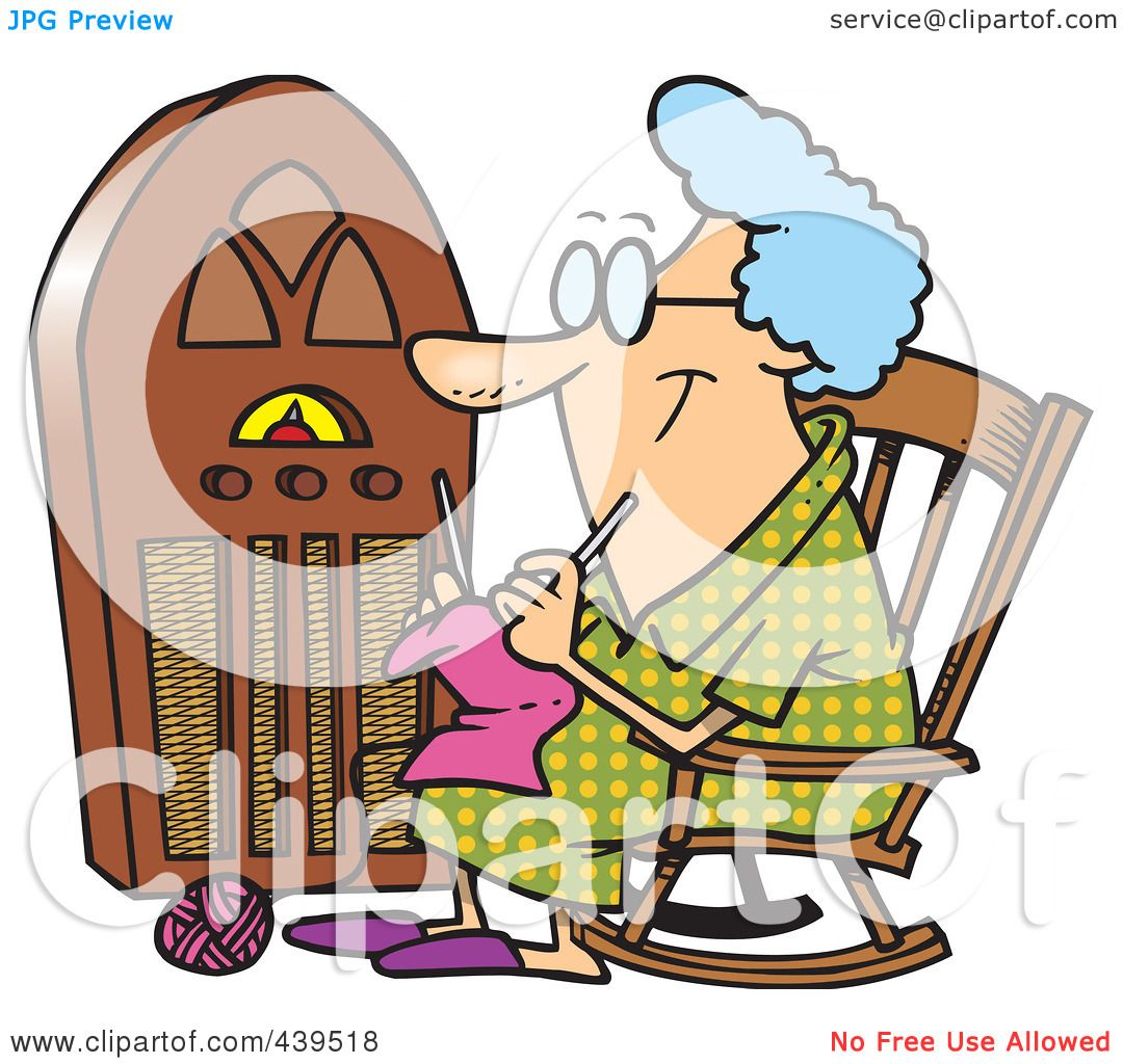 Knitting Granny Clipart : Royalty free rf clip art illustration of a cartoon