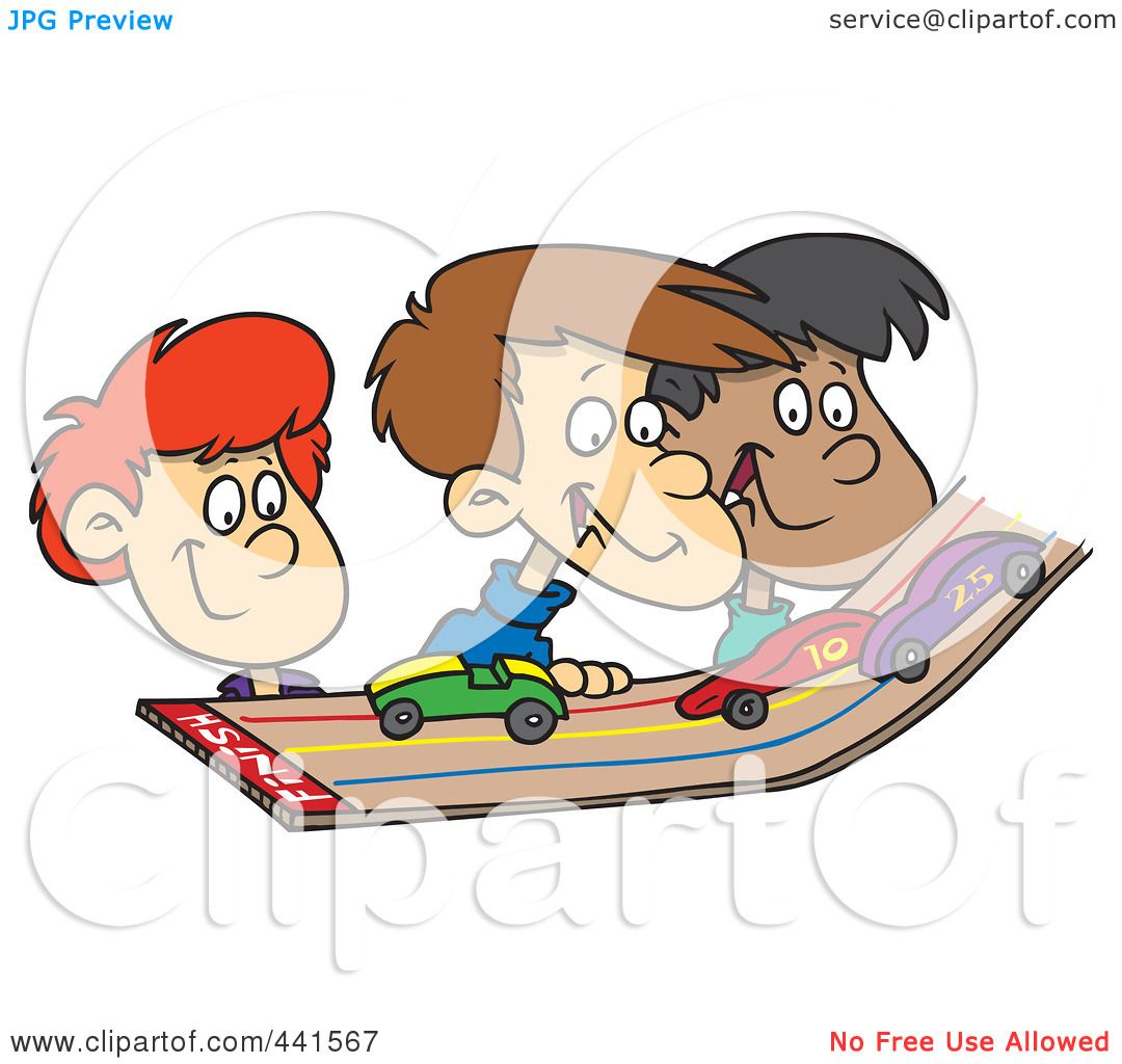 Royalty Free Rf Clip Art Illustration Of A Cartoon Group Of Kids