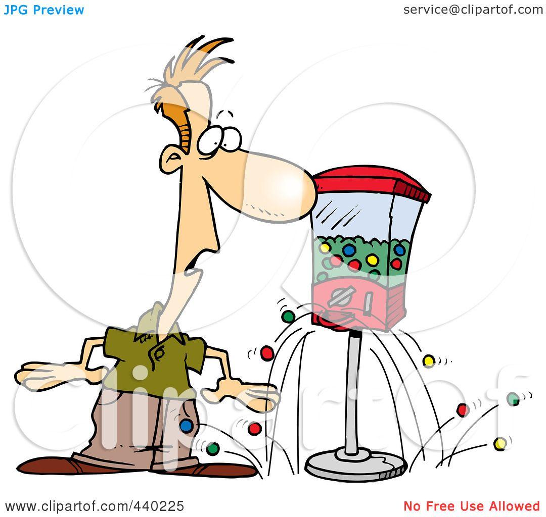 Royalty-Free (RF) Clip Art Illustration of a Cartoon Gumball ...