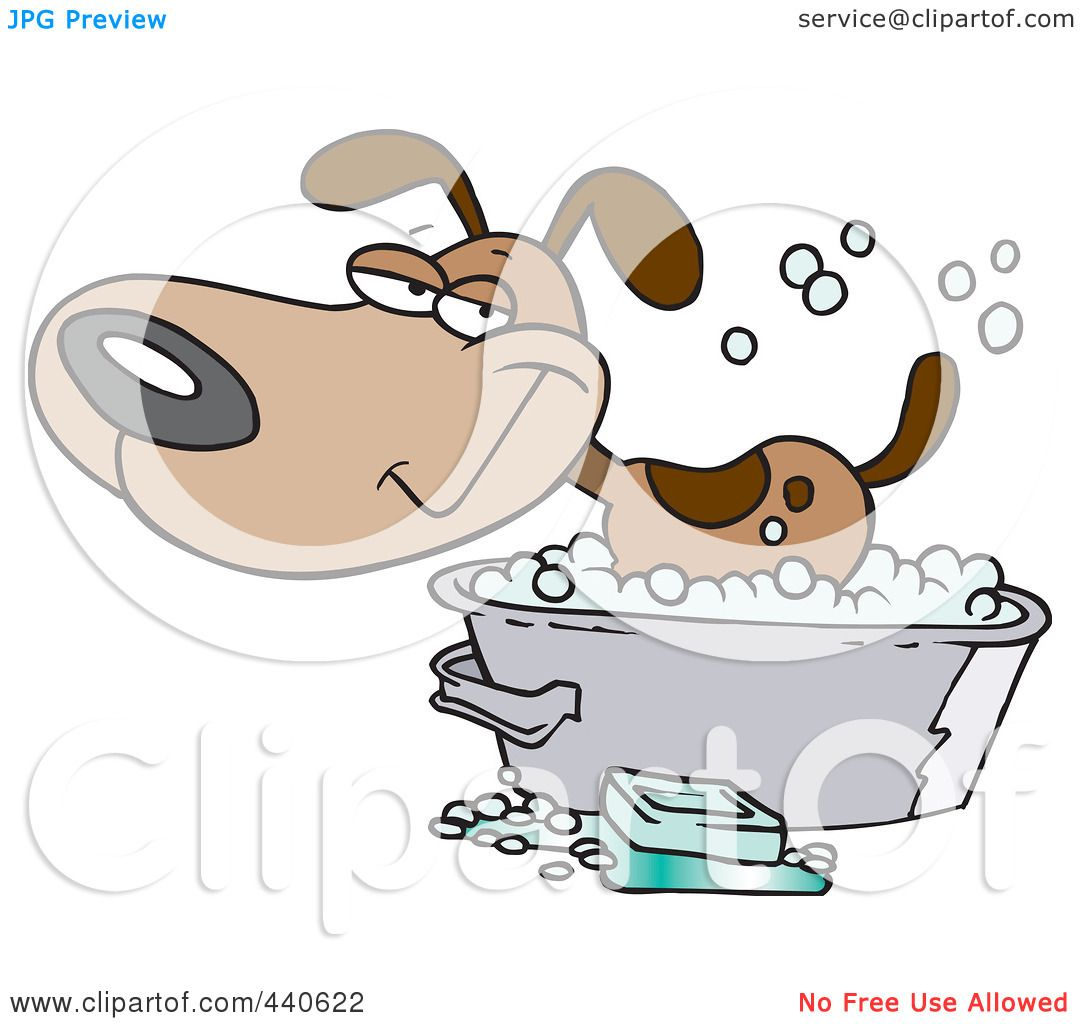 Free rf poodle clipart illustration 215241 by bnp design studio - Royalty Free Rf Clip Art Illustration Of A Cartoon Happy Dog Bathing In A Tub By Toonaday
