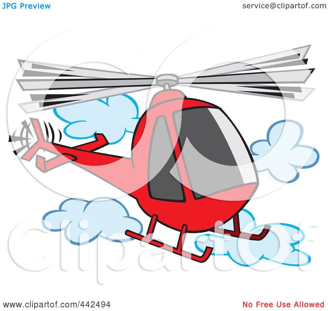of a Cartoon Helicopter In