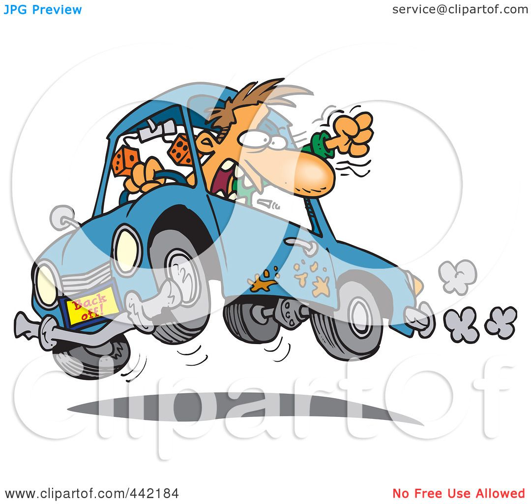Green truck clipart royalty free rf pickup truck clipart - Royalty Free Rf Clip Art Illustration Of A Cartoon Male Driver With Road Rage Preview Clipart