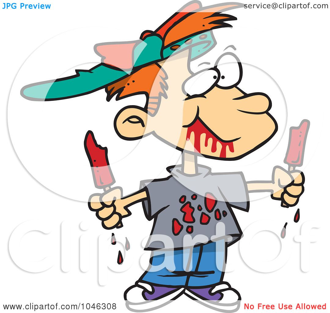 Royalty-Free (RF) Clip Art Illustration of a Cartoon Messy ...
