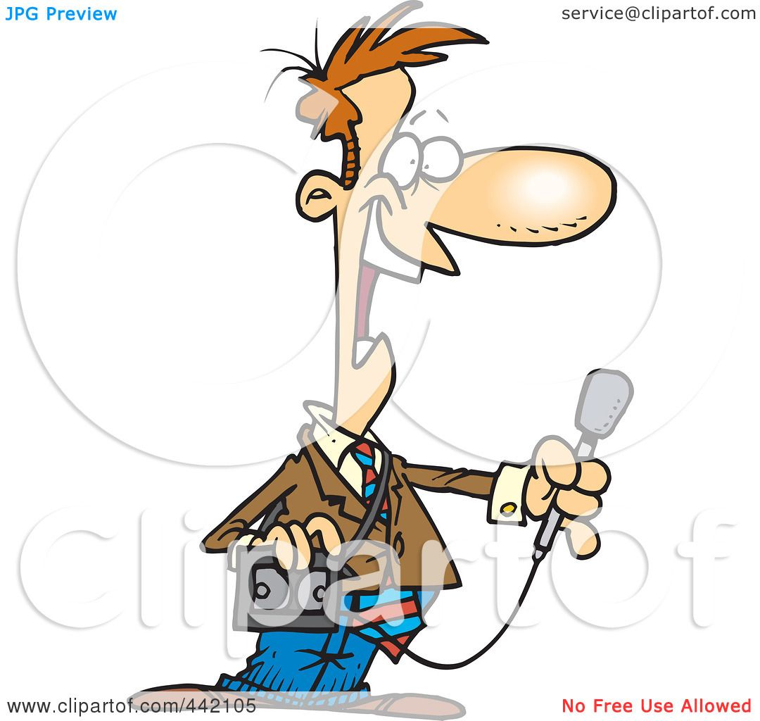 royalty free rf clip art illustration of a cartoon news reporter rh clipartof com  photojournalist clipart