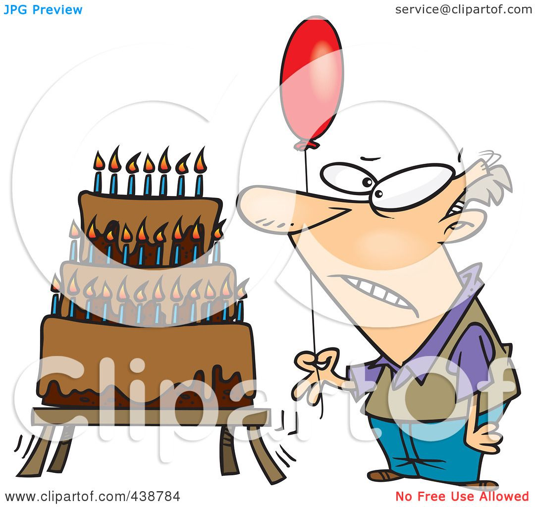 RoyaltyFree RF Clip Art Illustration of a Cartoon Old Man Holding