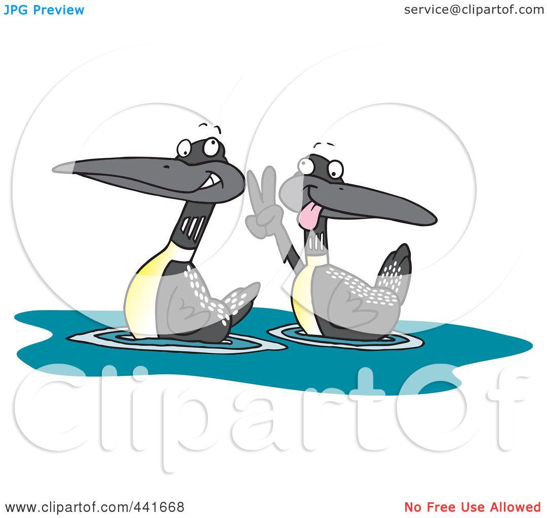 Royalty-Free (RF) Clip Art Illustration of a Cartoon Pair ...