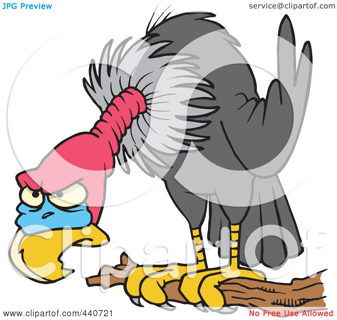 royalty free rf clip art illustration of a cartoon perched buzzard rh clipartof com buzzard clip art free