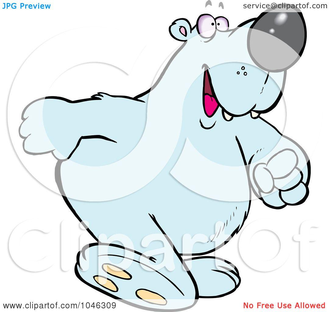 Royalty-Free (RF) Clip Art Illustration of a Cartoon Polar ...