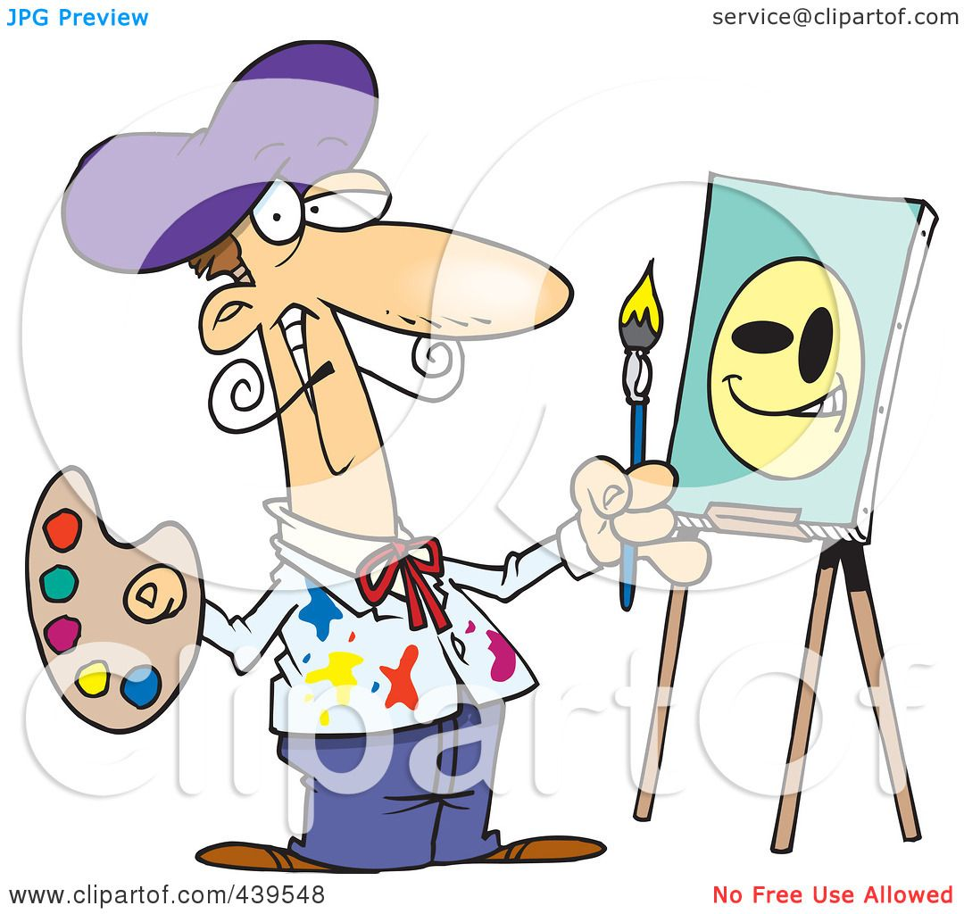 Related: Artist Clipart , Art Supplies Clipart , Artist Painting ...