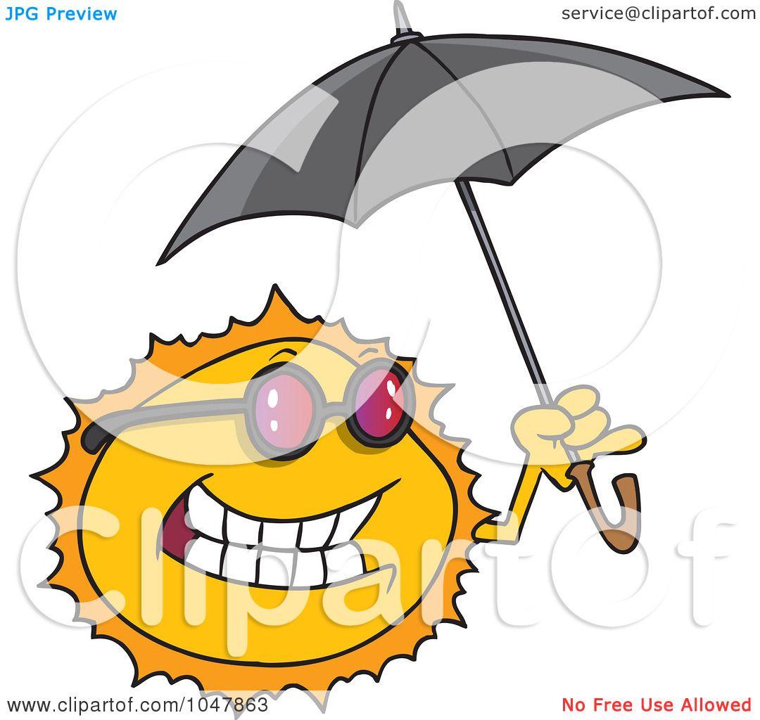 royalty free rf clip art illustration of a cartoon sun holding