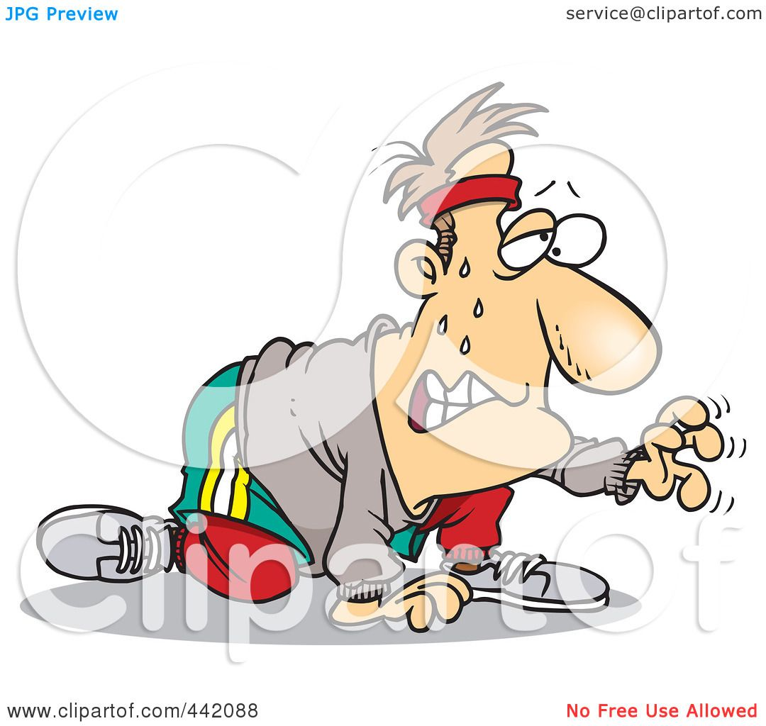 Royalty-Free (RF) Clip Art Illustration of a Cartoon Sweaty Man ...
