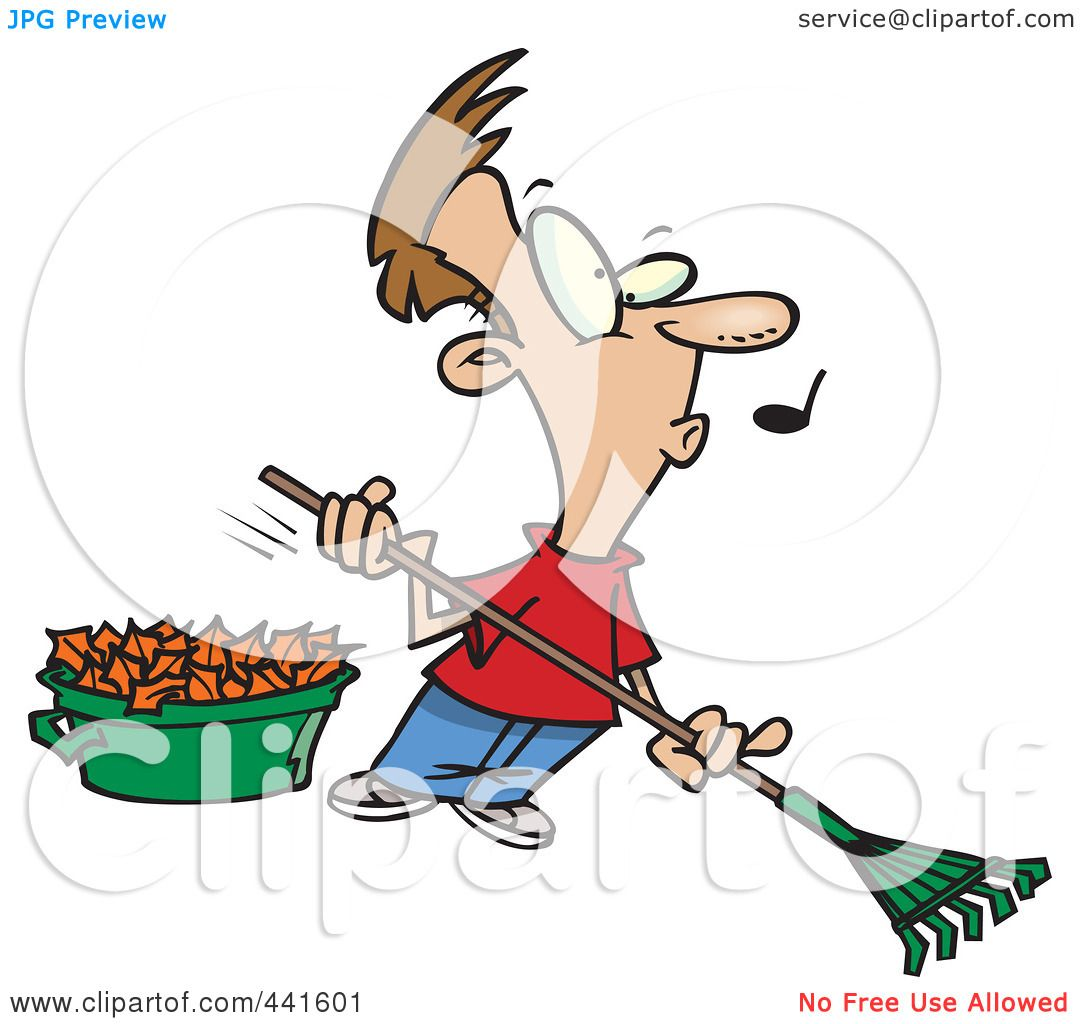 royalty free rf clip art illustration of a cartoon whistling man rh clipartof com man raking leaves clipart leaf raking clipart
