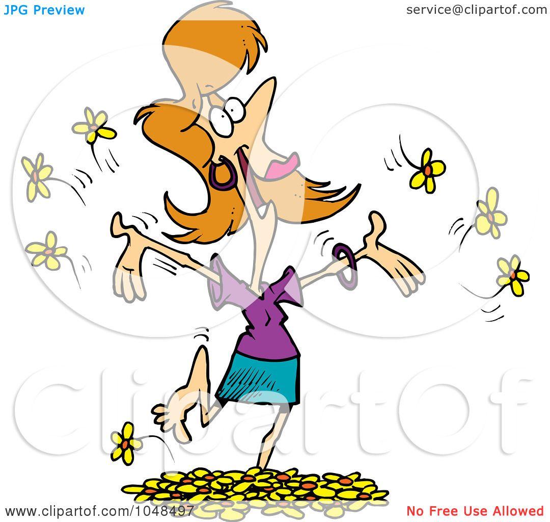 Royalty Free Rf Clip Art Illustration Of A Cartoon Woman Playing