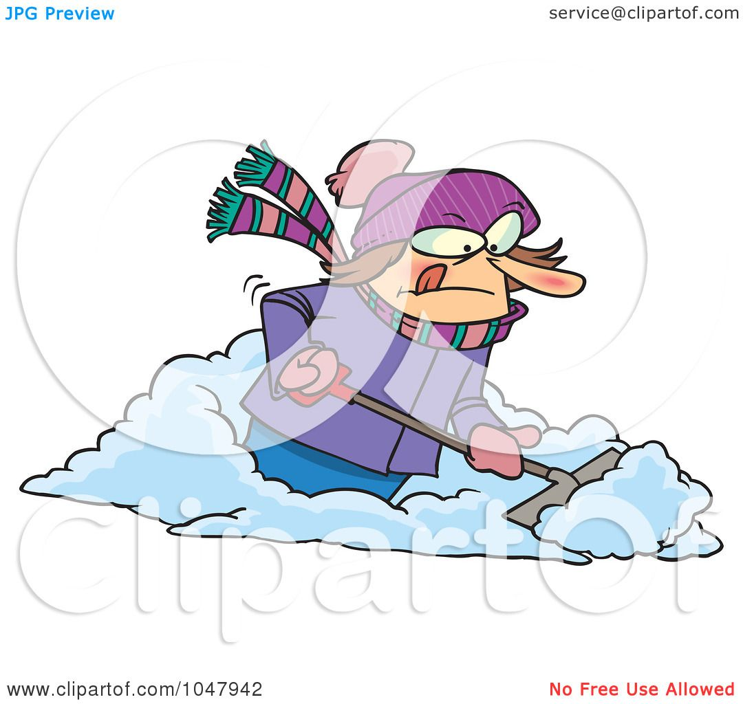shoveling snow clipart free - photo #30