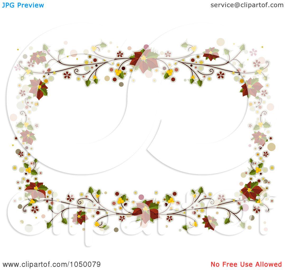 Of A Christmas Frame Red Poinsettias By BNP Design Studio 1050079