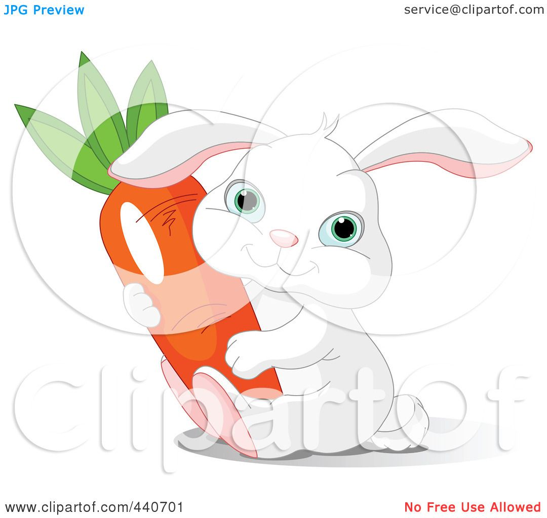Royalty-Free (RF) Clip Art Illustration of a Chubby White Bunny ...