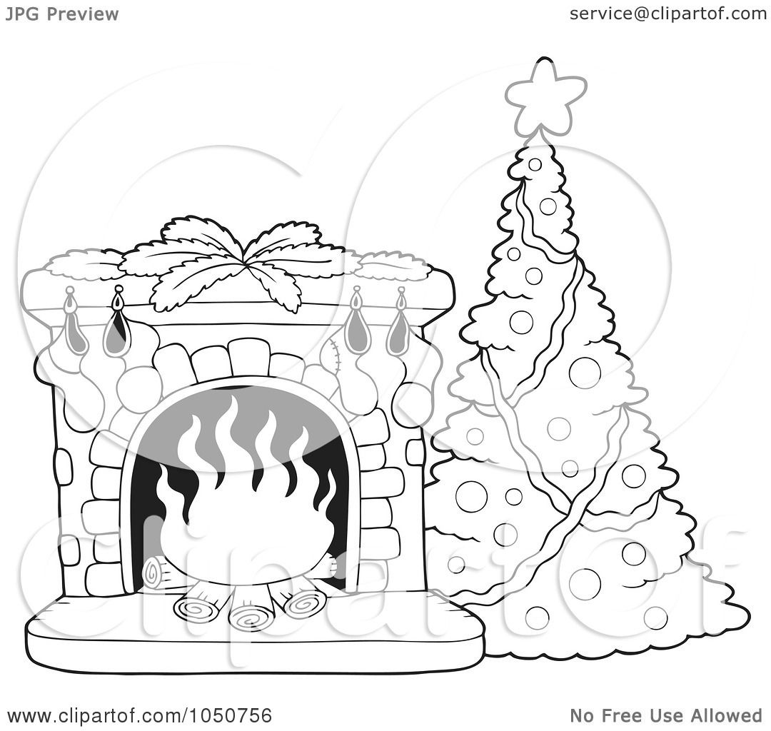 RoyaltyFree RF Clip Art Illustration of a Coloring Page