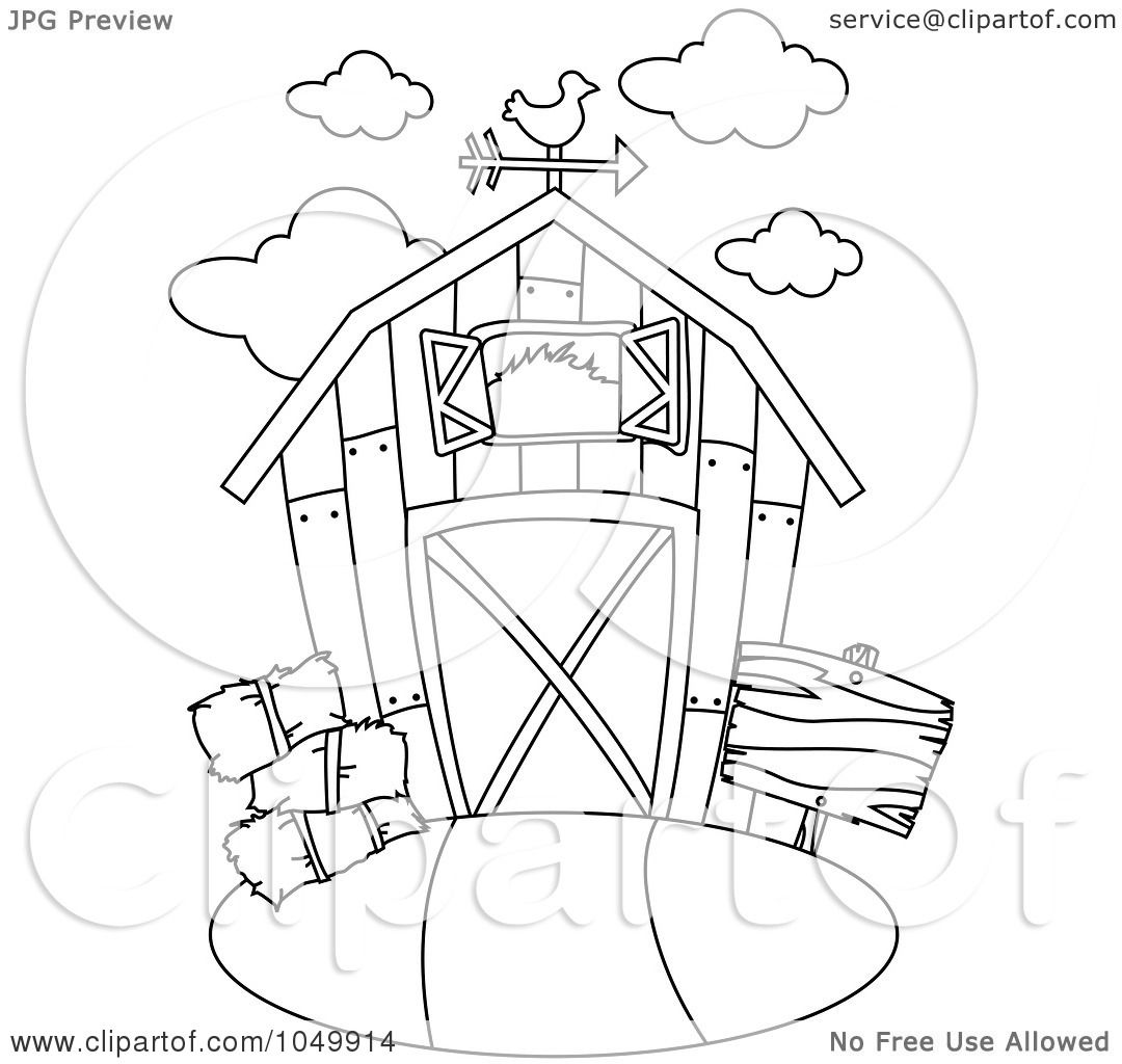royalty free rf clip art illustration of a coloring page outline of a barn by bnp design studio - Barns Coloring Pages Farm Silos