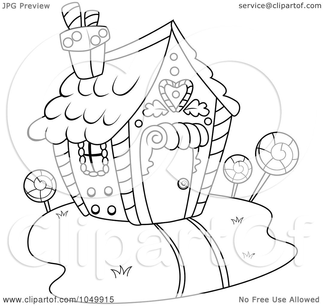 candy houses coloring pages - photo#37