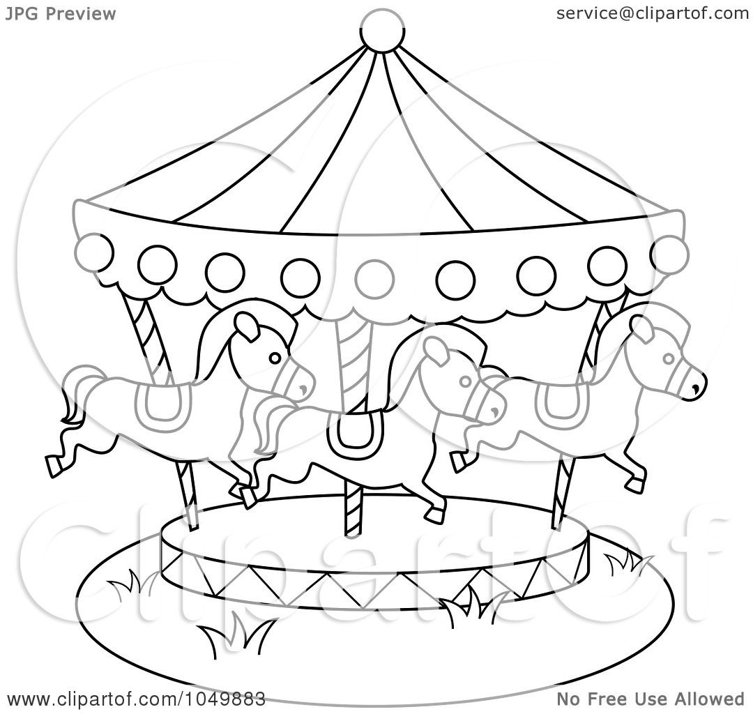 Of A Coloring Page Outline Carousel By BNP Design Studio 1049883
