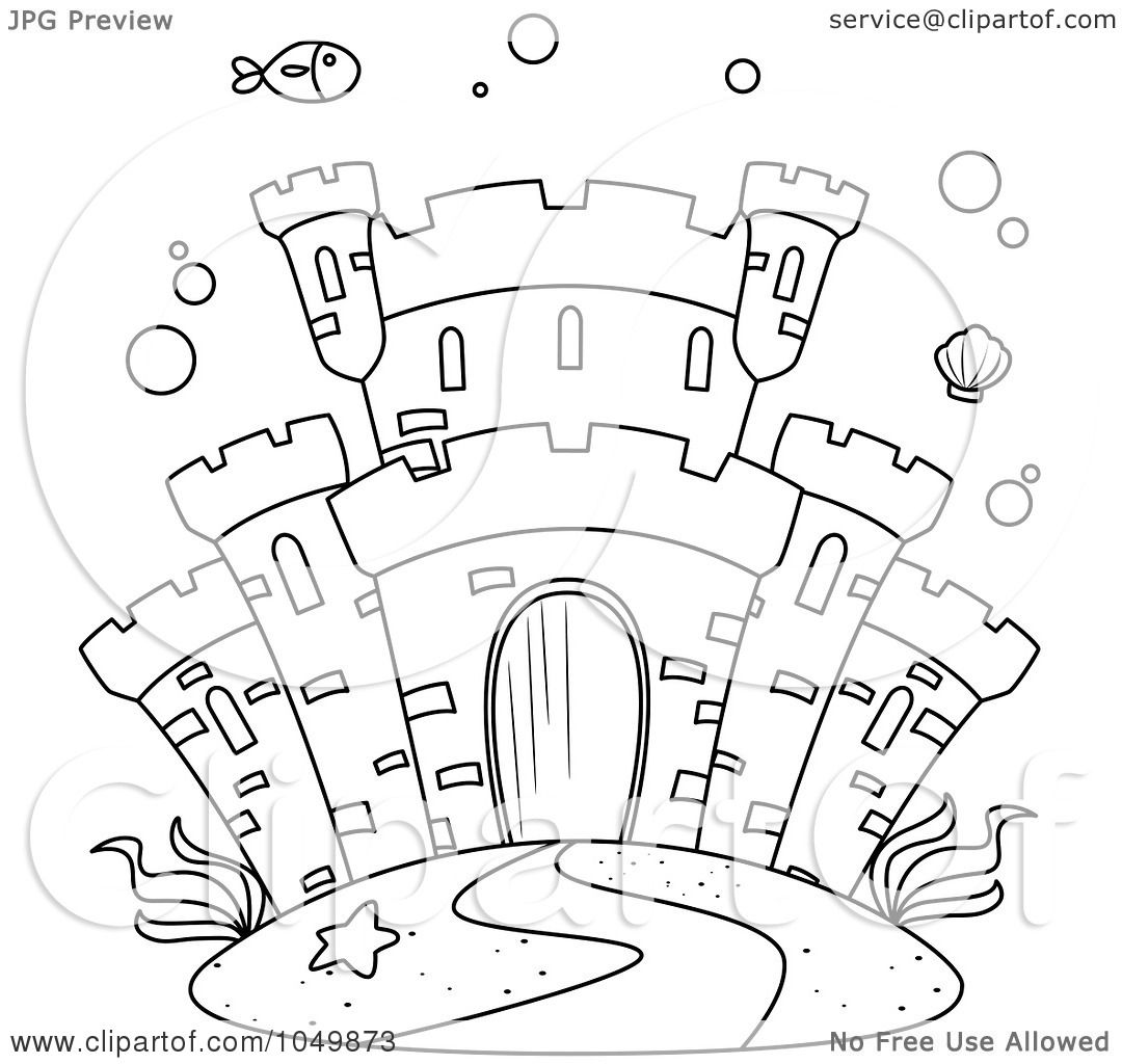 Free Coloring Pages Of Outline Of A Castle