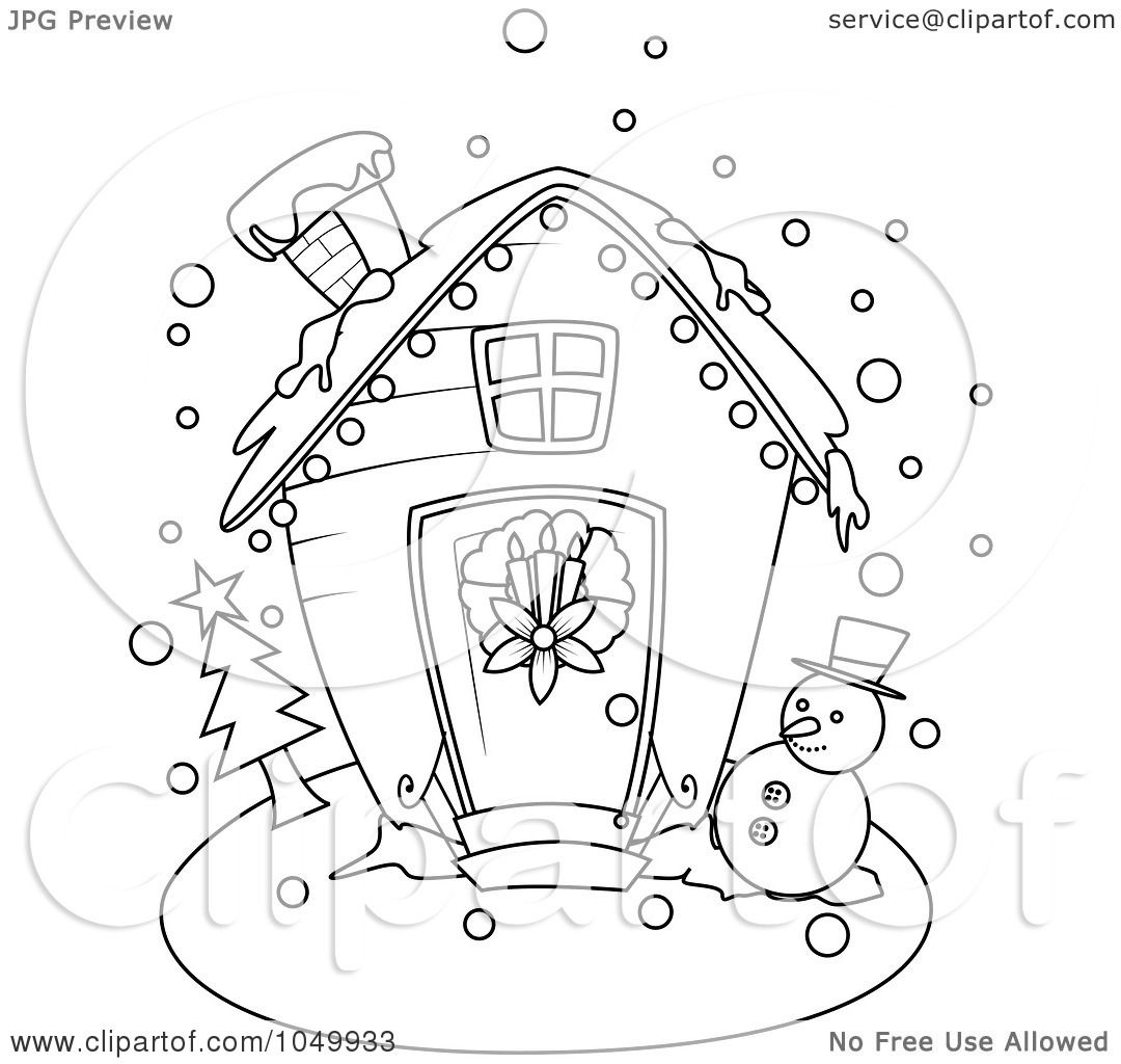 royalty free christmas coloring pages   Royalty-Free (RF) Clip Art Illustration of a Coloring Page ...