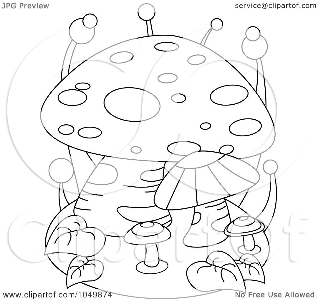 Royalty-Free (RF) Clip Art Illustration of a Coloring Page Outline ...