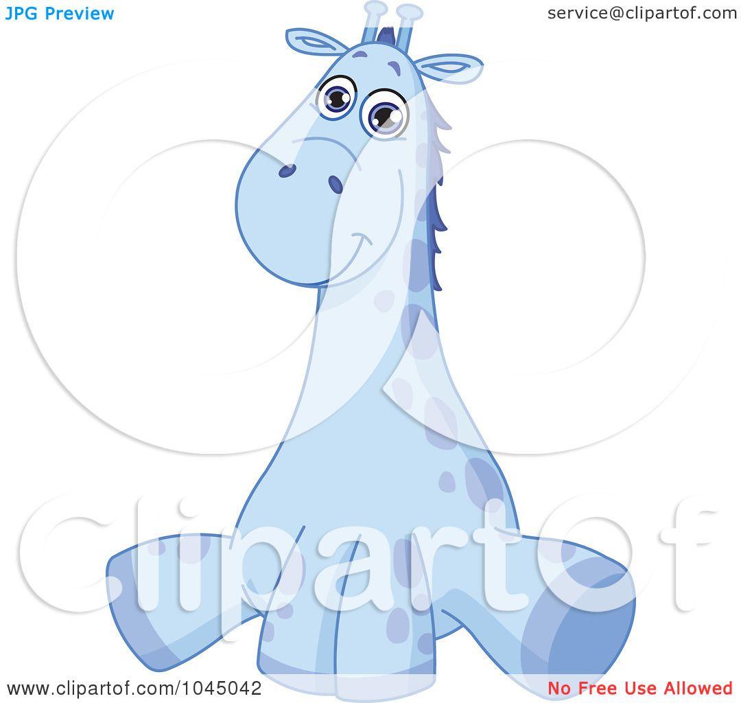 Baby Giraffe Clipart Blue a Cute Blue Baby Giraffe