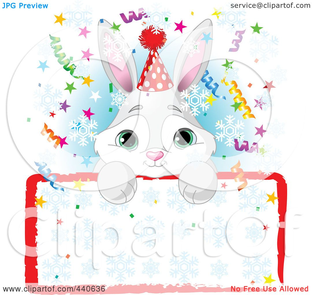 Royalty-Free (RF) Clip Art Illustration of a Cute Bunny Birthday ...