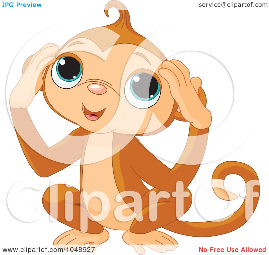 Royalty free rf clip art illustration of a cute hear no for Free clipart no copyright